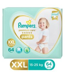Pampers Premium Care Pant Style Diapers Extra Extra Large Size Monthly Pack - 64 Pieces