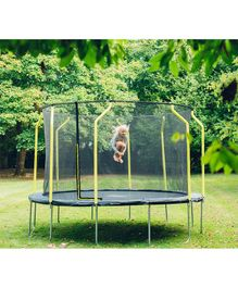 Plum Wave Springsafe Trampoline And Enclosure Black - 14 feet
