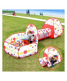 Playhood 3 in 1 Portable Pool with Tunnel & Tent - Multicolour
