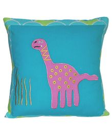 Abracadabra Cushion With Fillers Dino Patch - Green