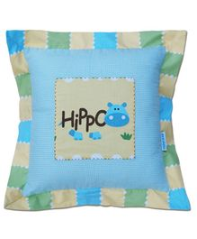 Abracadabra Cushion With Fillers Hippo Print - Blue
