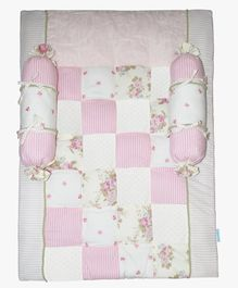 Abracadabra Mattress Set Floral Print - White Pink