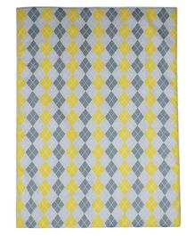 Abracadabra Changing Mat Diamond Print  - Yellow Grey