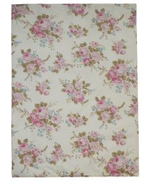 Abracadabra Diaper Changing Mat Single Vintage Floral - Pink & Cream