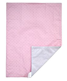Abracadabra Polka Dotted Changing Mat - Light Pink