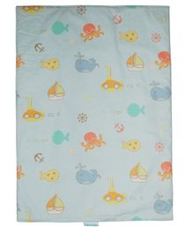 Abracadabra Beach print Changing Mat - Blue
