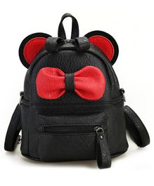 Abracadabra Kids Back Pack With Bow Black Red - 16 inches