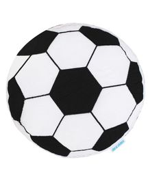 Abracadabra Football Shaped Cushion - Black and White