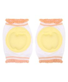Abracadabra Knee Pads Apple Design  - Yellow White