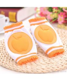 Abracadabra Knee Pads Apple Design  - Orange White