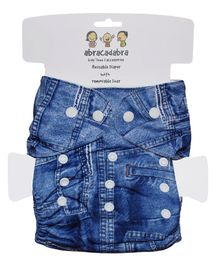 Abracadabra Reusable Diaper With Liner Denim - Blue