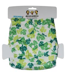 Abracadabra Reusable Diaper With Liner Leaves Print - Green