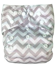 Abracadabra Reusable Chevron Diaper - Beige White