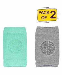 Bembika Anti Slip Baby Knee Pads Pack of 1 Pair - Green Grey