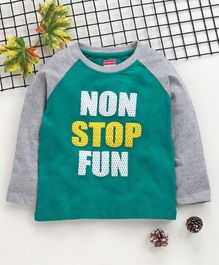 Babyhug Full Sleeves T-Shirt Text Print - Green