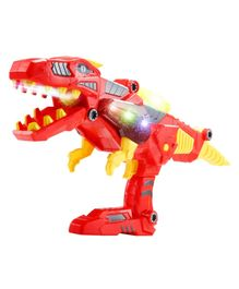 Toys Bhoomi 3-in-1 Transforming Toy Gun with Lights and Sounds Red - 16 Pieces