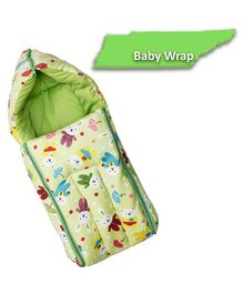 funBaby 3 in 1 Multi Usage Baby Cotton Bed Cum Sleeping Bag - Green
