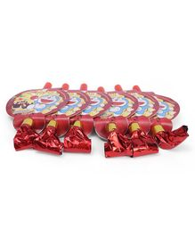 Doraemon Blowout Horns Red - Pack Of 6