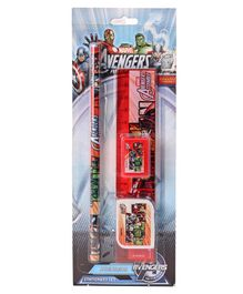 Marvel Avengers School Stationery Multicolour - Set of 4 Pieces