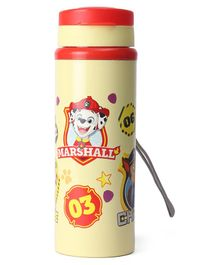 Paw Patrol Non Insulated Steel Water Bottle Cream - 550 ml