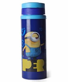 Minions Perfect Non Insulated Steel Water Bottle Blue - 550 ml