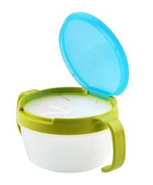 Syga Feeding Spill Proof Snack Catcher Bowl With Twin Handle - Green