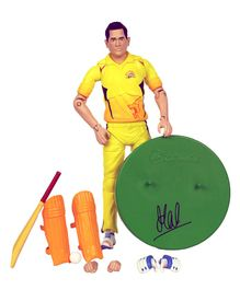 LilliputHub CSK Highly Detailed Dhoni Figure Yellow - Height 16.1 cm