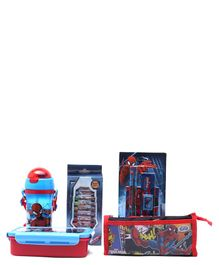Marvel Spider Man School Kit Pack of 5 - Blue Red