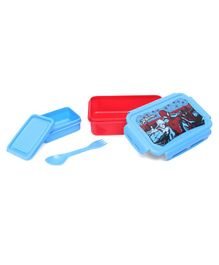 Marvel Spiderman Lunch Box With Small Container - Red Blue