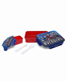 Marvel Avengers Lunch Box With Small Container - Red Blue