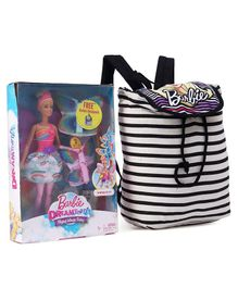 Barbie Dreamtopia Doll With Free Bag Multicolour - Height 29 cm