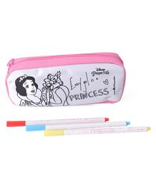 Disney Princess DIY Pencil Pouch With Marker Pens - Pink