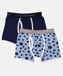 Claesens Holland Combo Of 2 Star Print Boxers - Blue