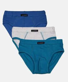 Claesens Holland Combo Of 3 Solid Panties - Blue