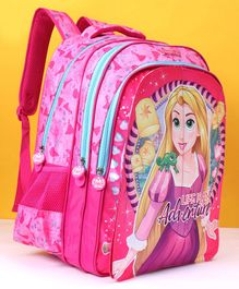 Disney Princess Flap School Bag Pink -  18 Inches