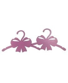 Spaces by Sonam Bow Shaped Wooden Hangers Set of 2 - Pink
