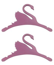 Spaces by Sonam Kids MDF Wood Swan Cloth Hanger Pink - Pack of 2