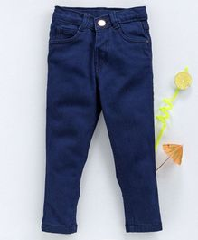 Babyhug Full Length Jeans - Dark Blue
