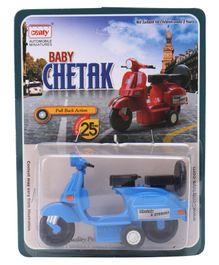 Centy Pull Back Action Chetak Scooter - Blue