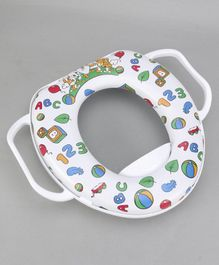 Babyhug Baby Potty Seat Number Print - White