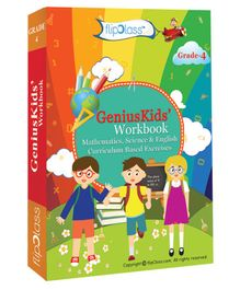 Genius Kids Worksheets For Class 4 Set of 6 Work Books - English