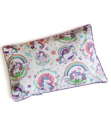 Silverlinen Unicorn & Rainbows Single Pillow Cover - Multicolour