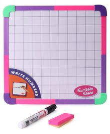RK's Double Sided  Scribble Slate with Marker and Duster - Pink
