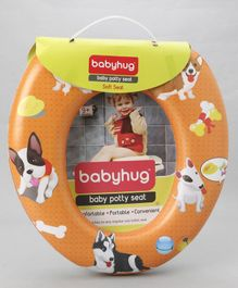 Babyhug Baby Potty Seat Animal Print - Orange