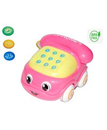 Vibgyor Vibes Light and Sound Push and Go Musical Phone Car - (Color May Vary)