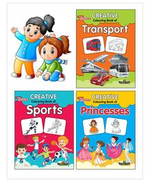 Creative Colouring Book Set of 3 - English