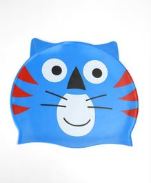 Milonee Tiger Print Swimming Cap - Blue