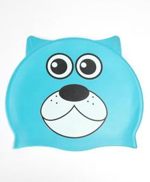 Milonee Bear Print Swimming Cap - Blue