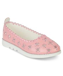 Kittens Shoes Eyelet Detailed Ballerinas - Pink