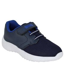Beanz Solid Velcro Closure Shoes  - Navy Blue